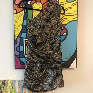 NWOT Isabel Marant one shoulder metallic dress